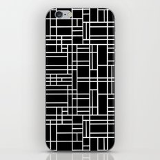 Map Outline White on Black  iPhone & iPod Skin