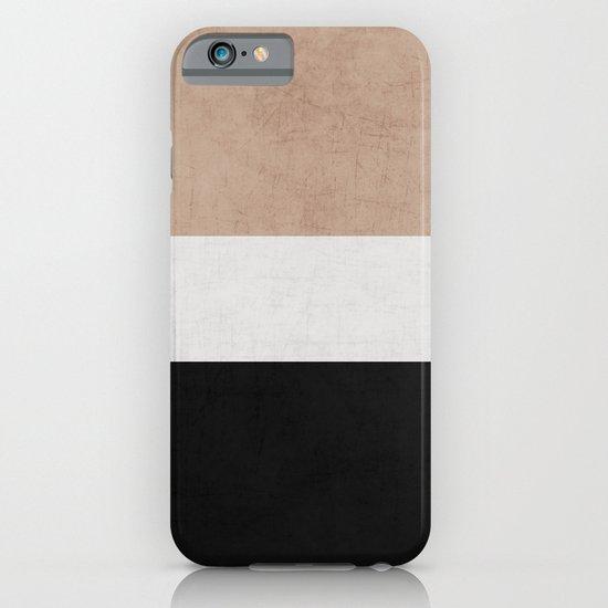 classic - natural, cream and black iPhone & iPod Case