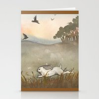 Little White Rabbit And … Stationery Cards