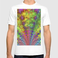 Fractal Fountain Mens Fitted Tee White SMALL