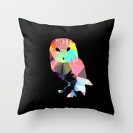 Crystal Owl Throw Pillow