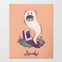 Spooky Ghostie Canvas Print