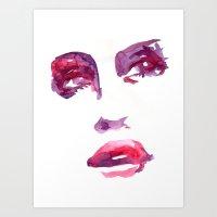 Lady R Art Print