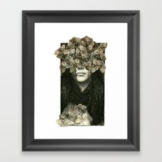 Head Case Framed Art Print