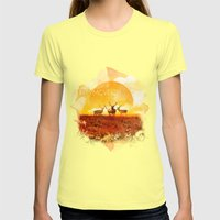 Sunset adaption | Peter McVeigh Womens Fitted Tee Lemon SMALL