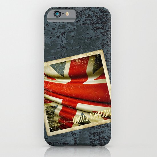 Sticker with UK flag iPhone & iPod Case