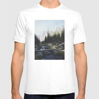 Rocky Mountain Creek Mens Fitted Tee White SMALL