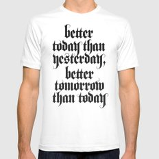 be better White Mens Fitted Tee SMALL