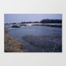 river rocks Canvas Print