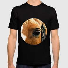 a horse's kind eyes. Mens Fitted Tee SMALL Black