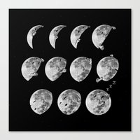 Lunar Phases Of Sleep Canvas Print