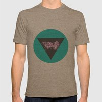Sky Jewel Mens Fitted Tee Tri-Coffee SMALL