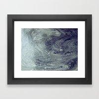 River Patterns Framed Art Print