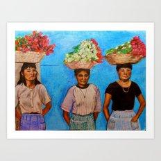 Selling Flowers Art Print