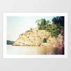 north rock Art Print
