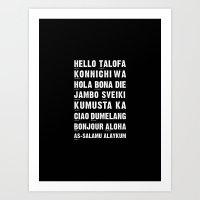 Hello Language Art Print