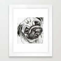 Pug Nº2 Framed Art Print