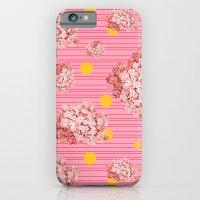 hydrangea spots and stripes iPhone 6 Slim Case