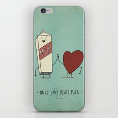 only love beats milk iPhone & iPod Skin