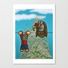 Le fil rouge Canvas Print