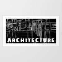 Architecture - Black Art Print