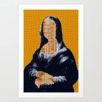 Mona Lisa · Yellow Pres… Art Print