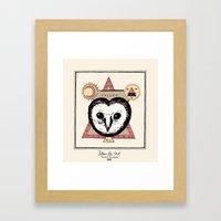 Follow the Owl Framed Art Print