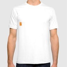Orange photo Mens Fitted Tee SMALL White