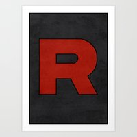Team Rocket Logo - Pokemon Minimal Poster  Art Print
