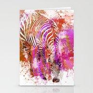 Crazy Zebra II Stationery Cards