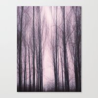 Woods Red Canvas Print