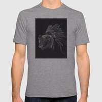 Running Bear - Updated Mens Fitted Tee Athletic Grey SMALL