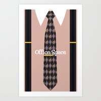 Office Space Minimal 02 Art Print