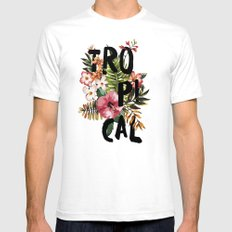 Tropical I Mens Fitted Tee SMALL White