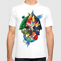 Avian Skull Mens Fitted Tee White SMALL