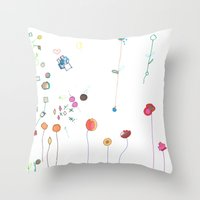 Floral Fall Throw Pillow