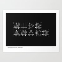 Typography Is Everything… Art Print