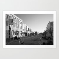 Early Morning On Main St… Art Print
