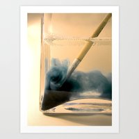 Paint Brush Wash Up Art Print