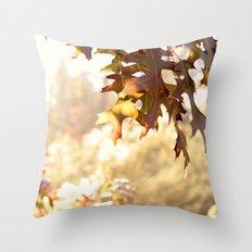hazy autumn Throw Pillow