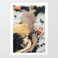 Falling For Fashion Art Print