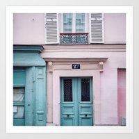 Paris Facades. Art Print
