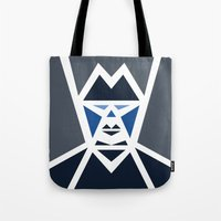 Five Triangle Faces - The Mafioso Tote Bag