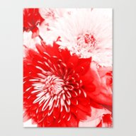 Bouquet In Red, White An… Canvas Print
