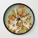 skulls in spring Wall Clock