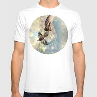 Genesis 1:20 Mens Fitted Tee White SMALL