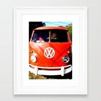 VW California Cruising Framed Art Print