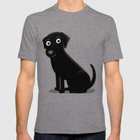 Black Lab - Cute Dog Ser… Mens Fitted Tee Tri-Grey SMALL
