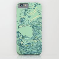 waves iPhone & iPod Cases featuring Ocean Breath by Huebucket