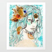 Mermaid Hair Art Print
